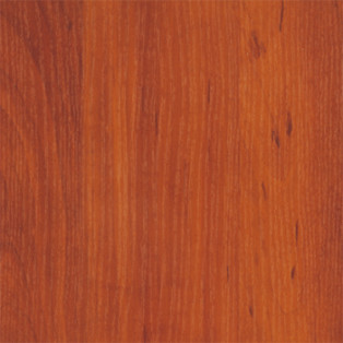 Particle board showing Wild Apple finish