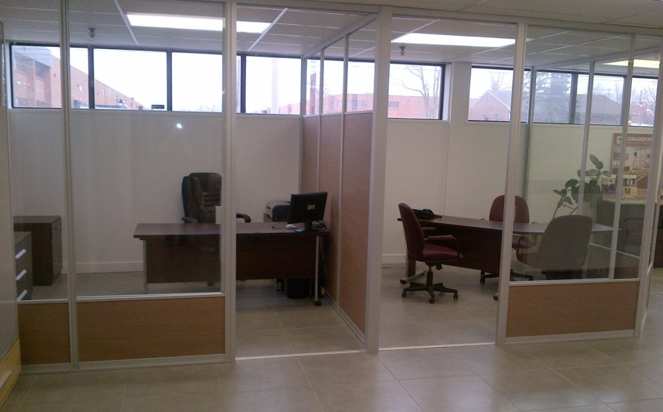 office partition floor to ceiling glass wall