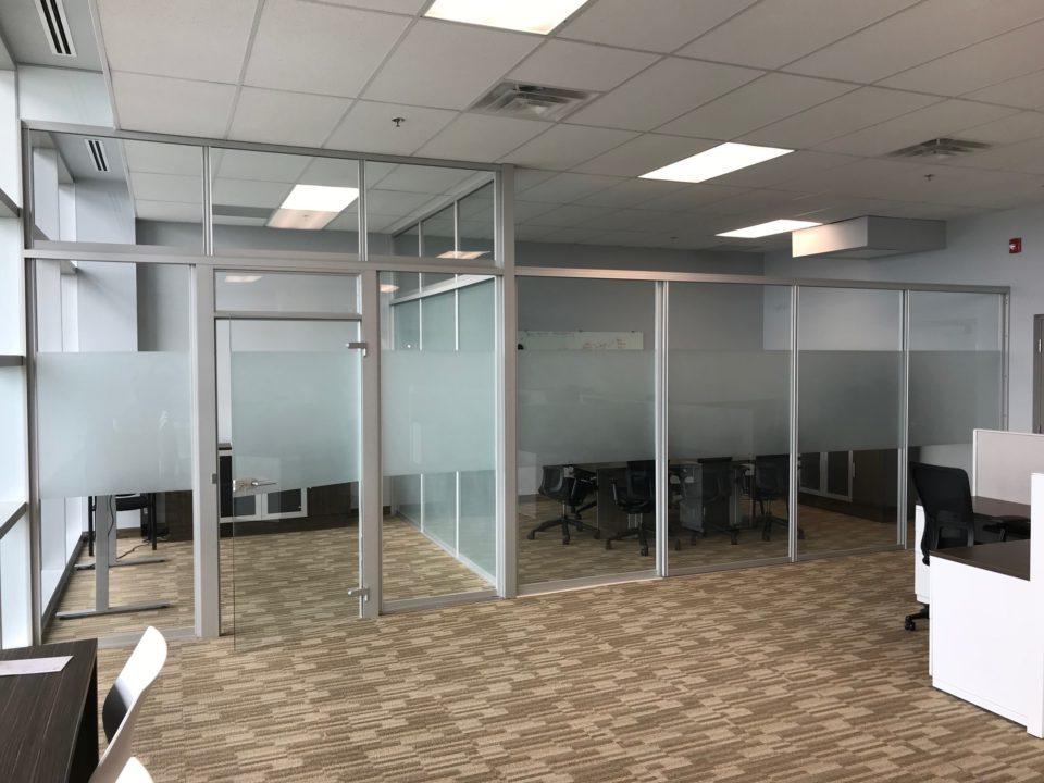 workplace glass seperation