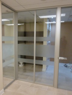 Glass wall system for offices