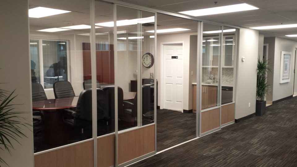 fixed screens with sliding glass doors